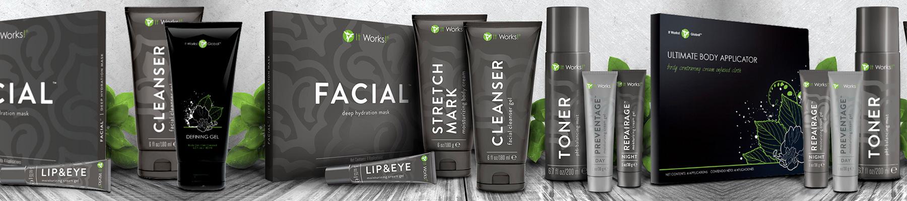 Gamme de cosmétiques It Works Global